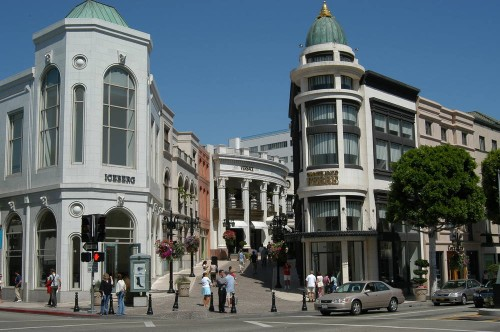 Rodeo Drive Los Angeles California Upscale Shopping