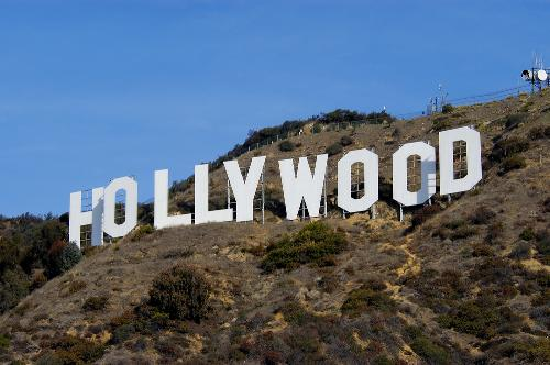 Hollywood Sign Los Angeles California Symbol Of Hollywood And