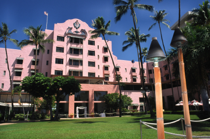 The Royal Hawaiian Honolulu Hawaii Landmark Pink Hotel On Waikiki Beach