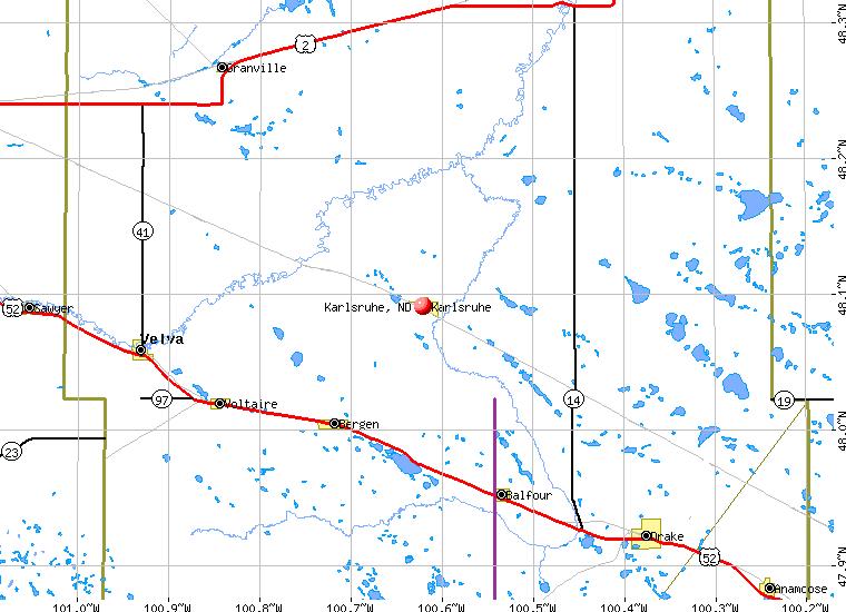 Karlsruhe North Dakota ND 58744 profile population maps real