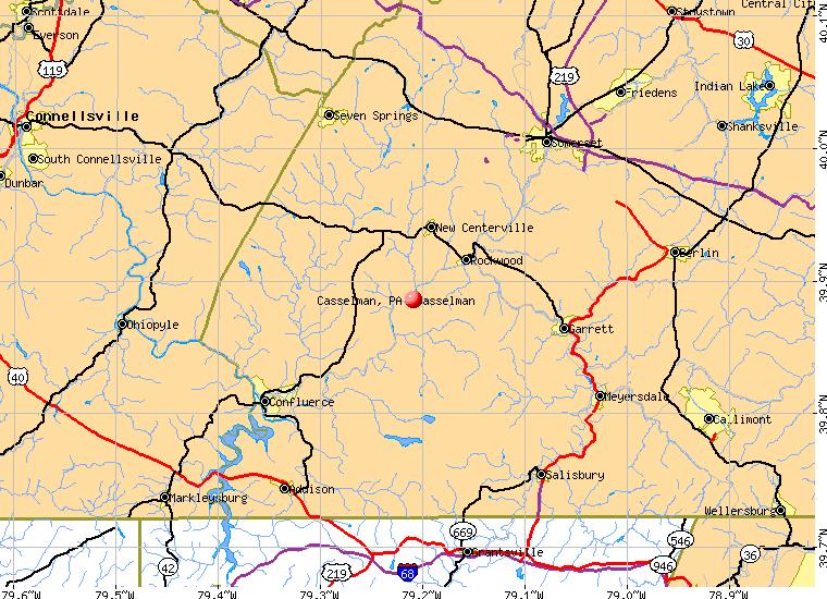 Casselman Pennsylvania PA 15557 profile population maps real