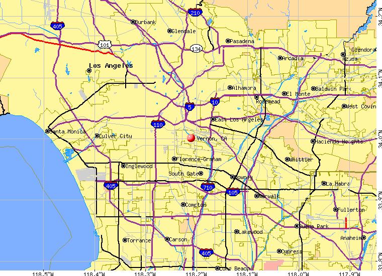 Vernon Ca Map My Blog