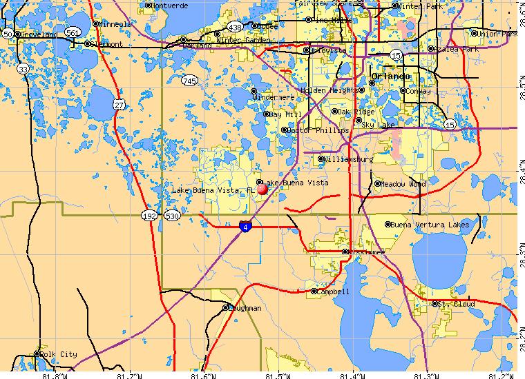 Lake Buena Vista Florida FL 32836 profile population maps real