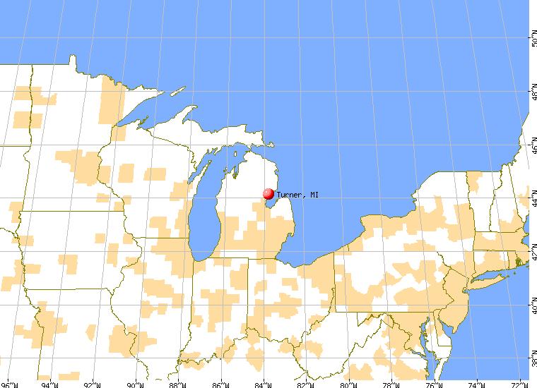 Turner Michigan MI Profile Population Maps Real Estate - Cities of michigan map