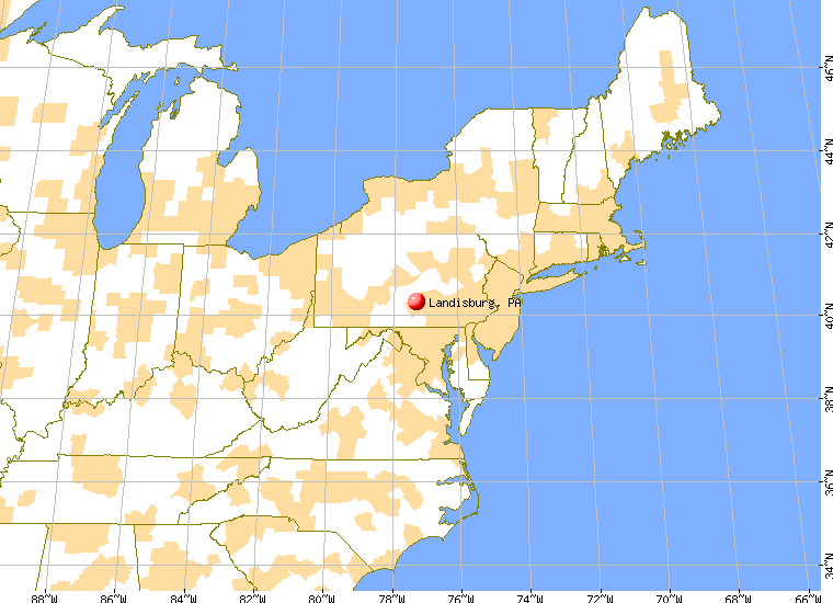 Landisburg Pennsylvania PA Profile Population Maps - Map of cities in pa