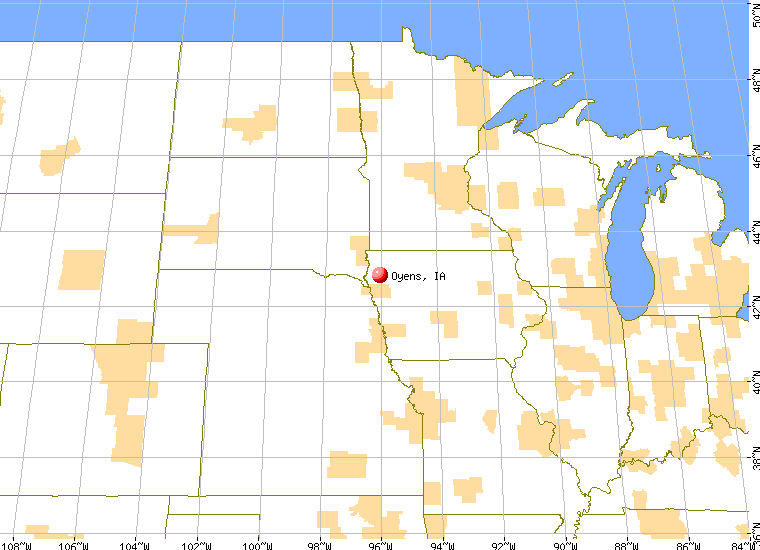 Oyens Iowa IA Profile Population Maps Real Estate - Cities in iowa map
