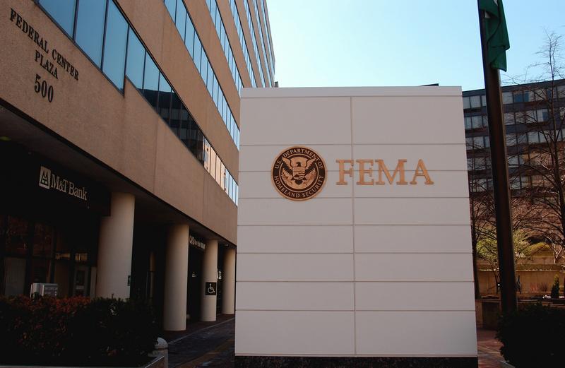Operations - The DHS/FEMA sign at FEMA headquarters in Washington ...