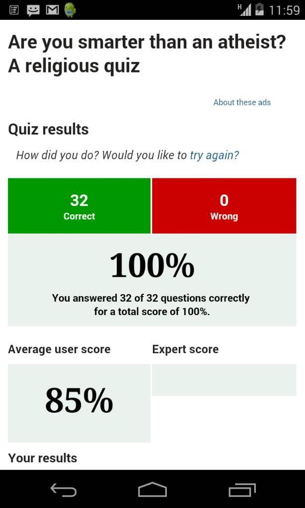 Am i agnostic quiz