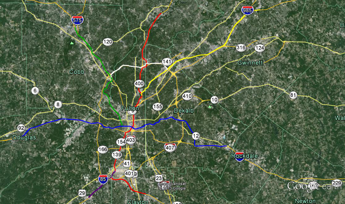 MARTA 2040 A vision for Atlantas future rail map Roswell