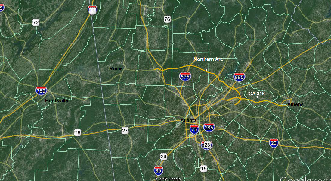 D Important Road Projects Need Done Metro Map on Detailed Map Of 285 Atlanta Ga