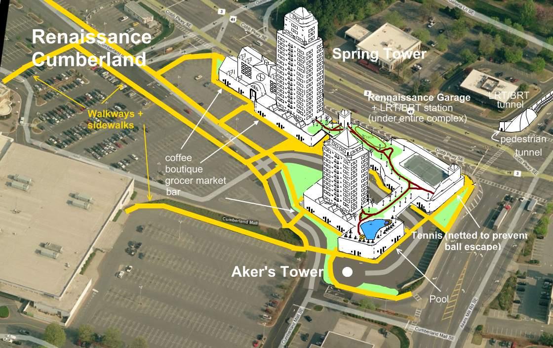Renaissance Cumberland Mixed Use Cumberland Mall Vinings Lenox Sales Apartments Renters