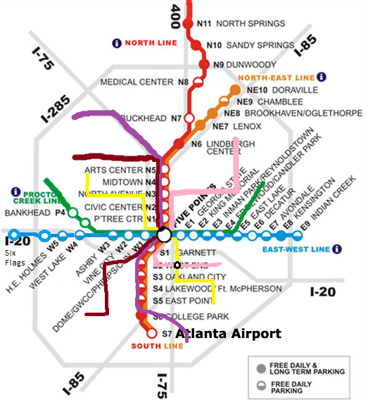 Possible Future MARTA Map Atlanta Tucker transfer airport rail