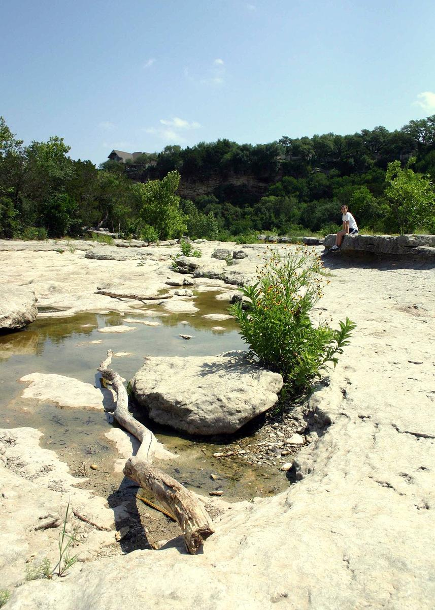 Pictures of austin not touristy hamilton garden pool for Barton creek nursery