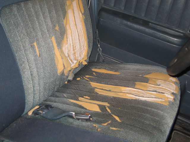 Picked Up A Used Vinyl Bench Seat For My Work Truck How