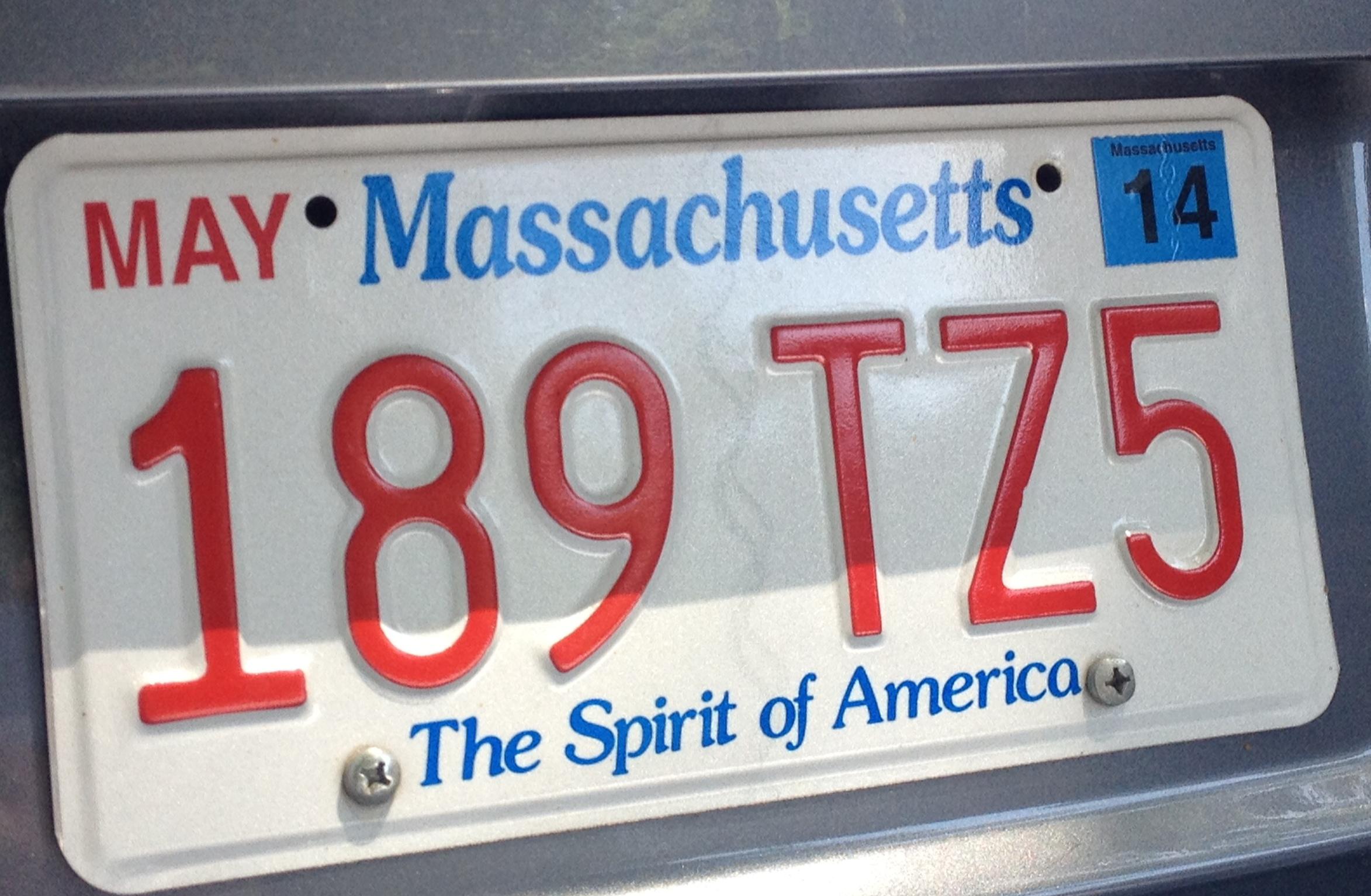 Car sticker inspection - Boston Parking Ticket Plate Decal Photo Jpg