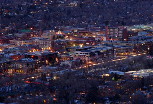 Colorado Skyline Downtown Area Rating Boulder Apartment