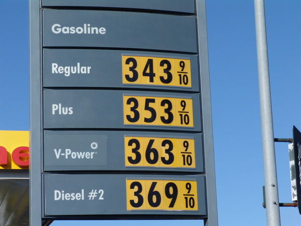 how much gas Fuel price calculator: how much do you pay but how much it costs to fill up can vary from street to street and town to oil and gas industry in 'bleak' 2014.