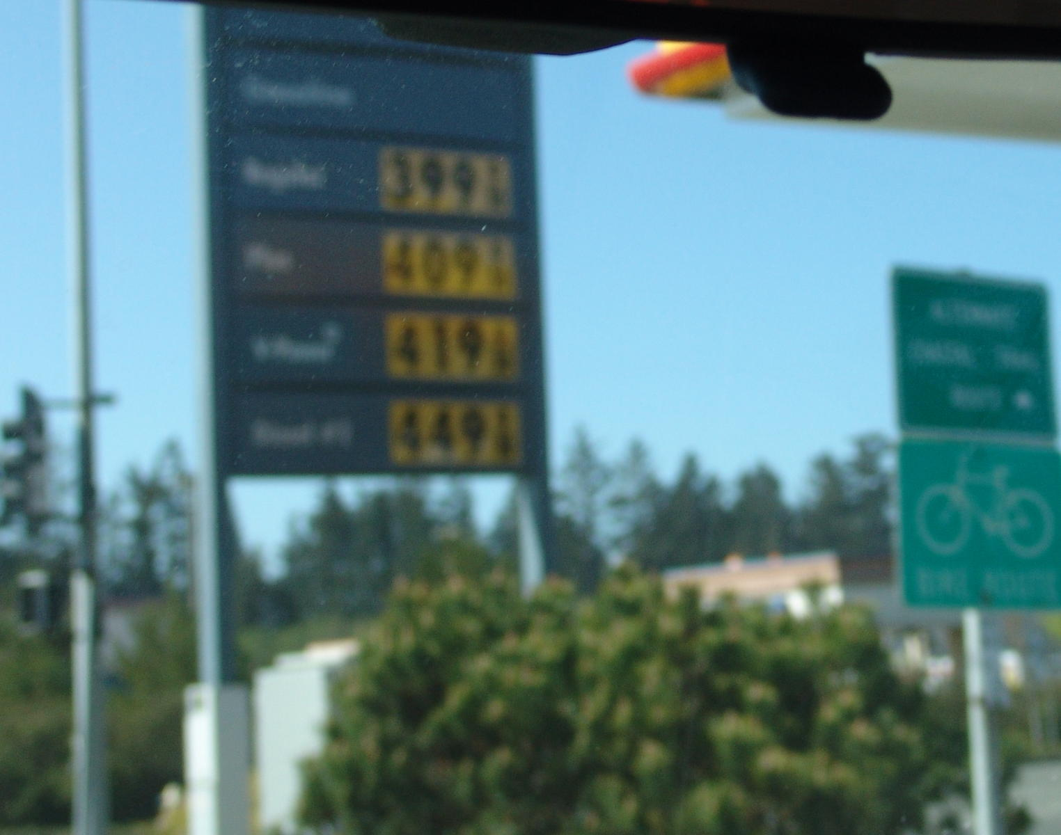 How much is Gas per gallon in California these days? (Orange: for sale