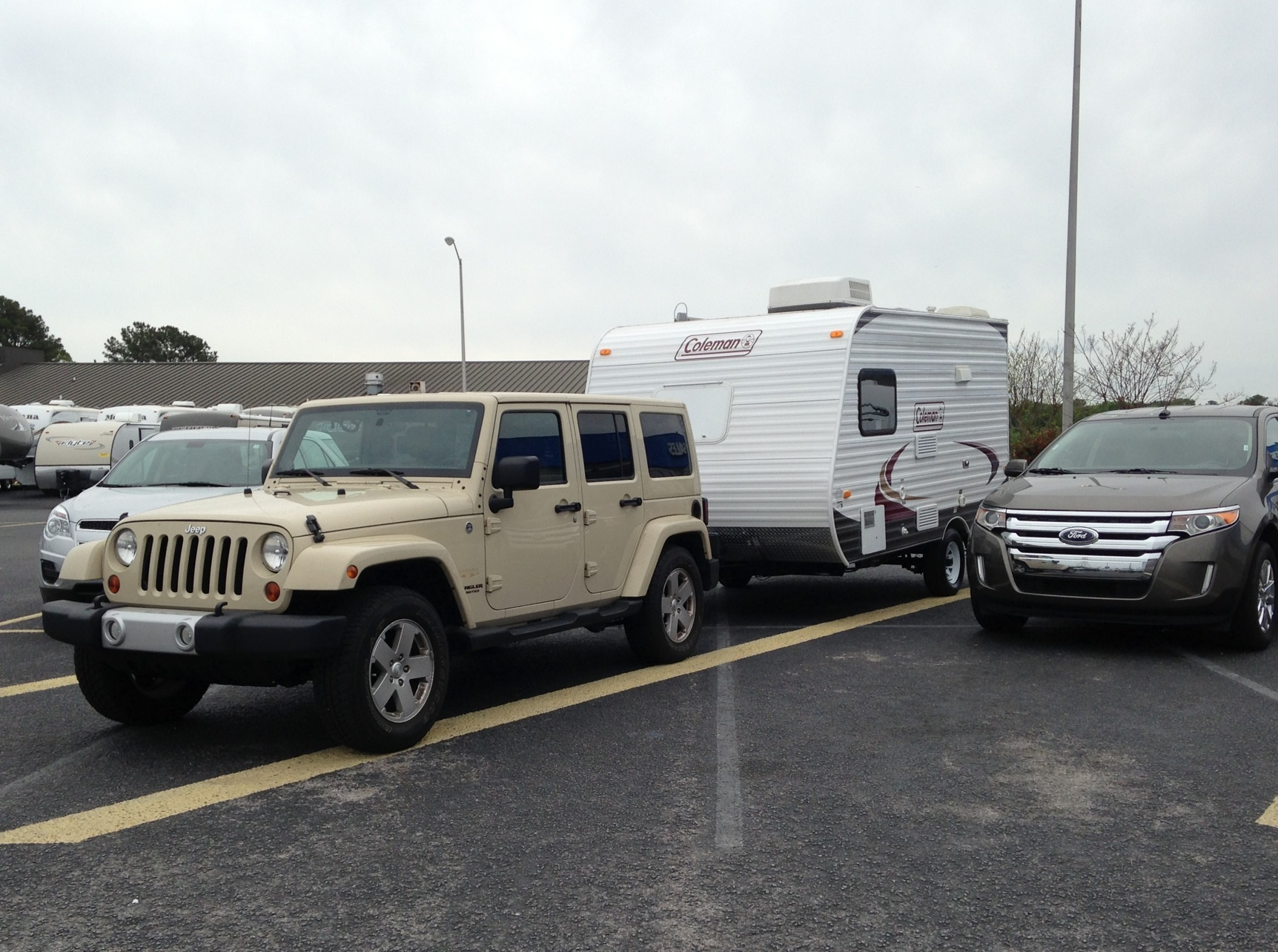newbies towing a tt with a jeep wrangler unlimited. Black Bedroom Furniture Sets. Home Design Ideas