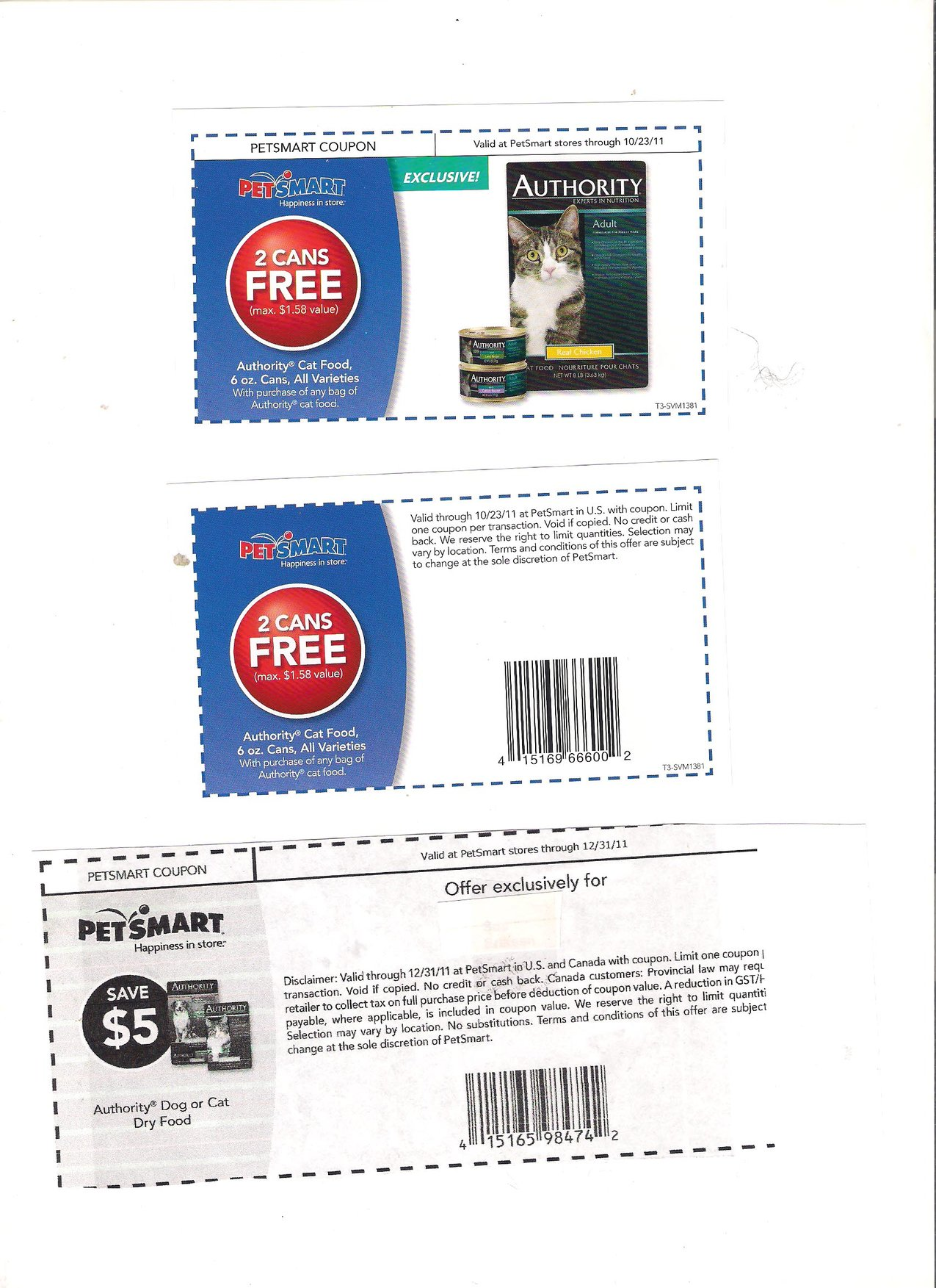 Authority Cat Food Printable Coupons