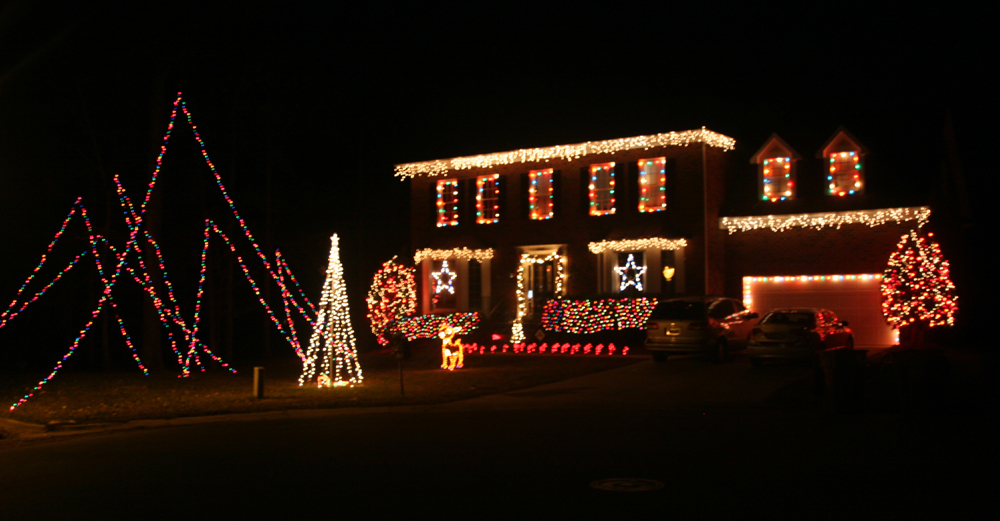 outdoor christmas decor in clt whats in whats out - Neon Outdoor Christmas Decorations