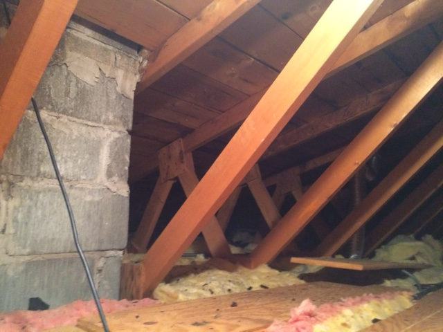 Kitchen Wall Removal In Truss Roof Home