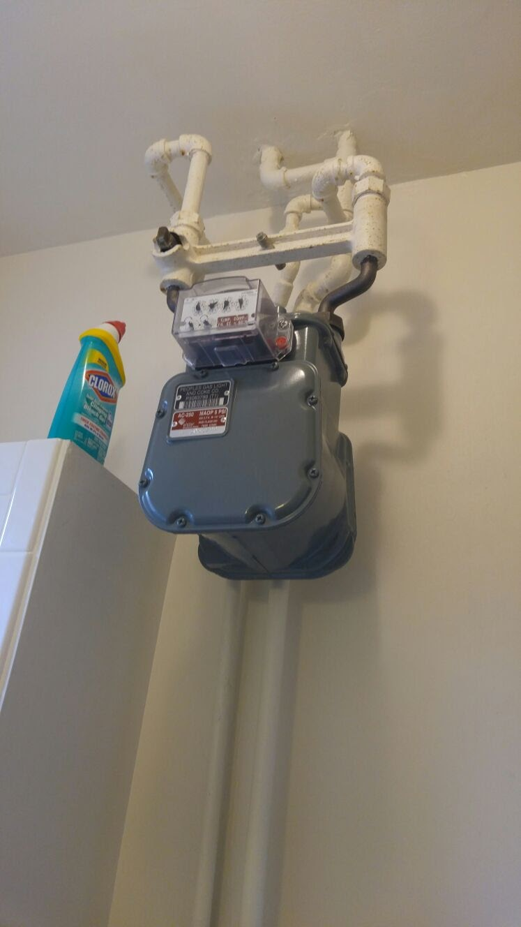 Inside A Gas Meter : Relocating a gas meter apartment rental house