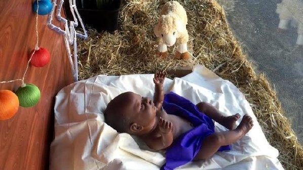 Baby Jesus In A MangerMIND BLOWN Black