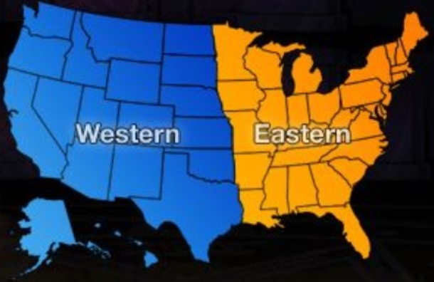 Western Vs Eastern Half Of The United States Better America - Eastern half of us map
