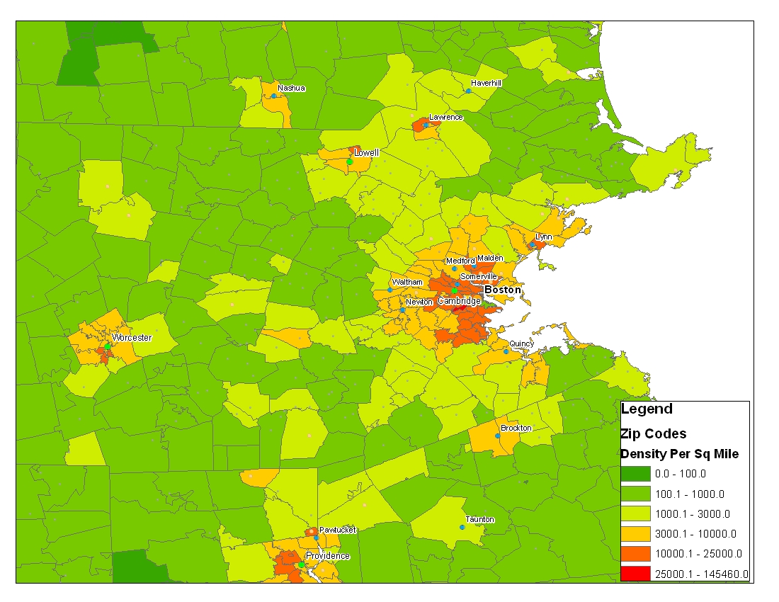 Population Density By Zip Code Map.Is There A Best Way To Determine Comparative City Population Map