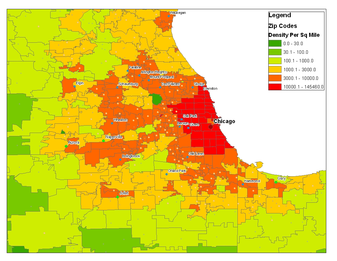 Zip Code Map Chicago Il Images