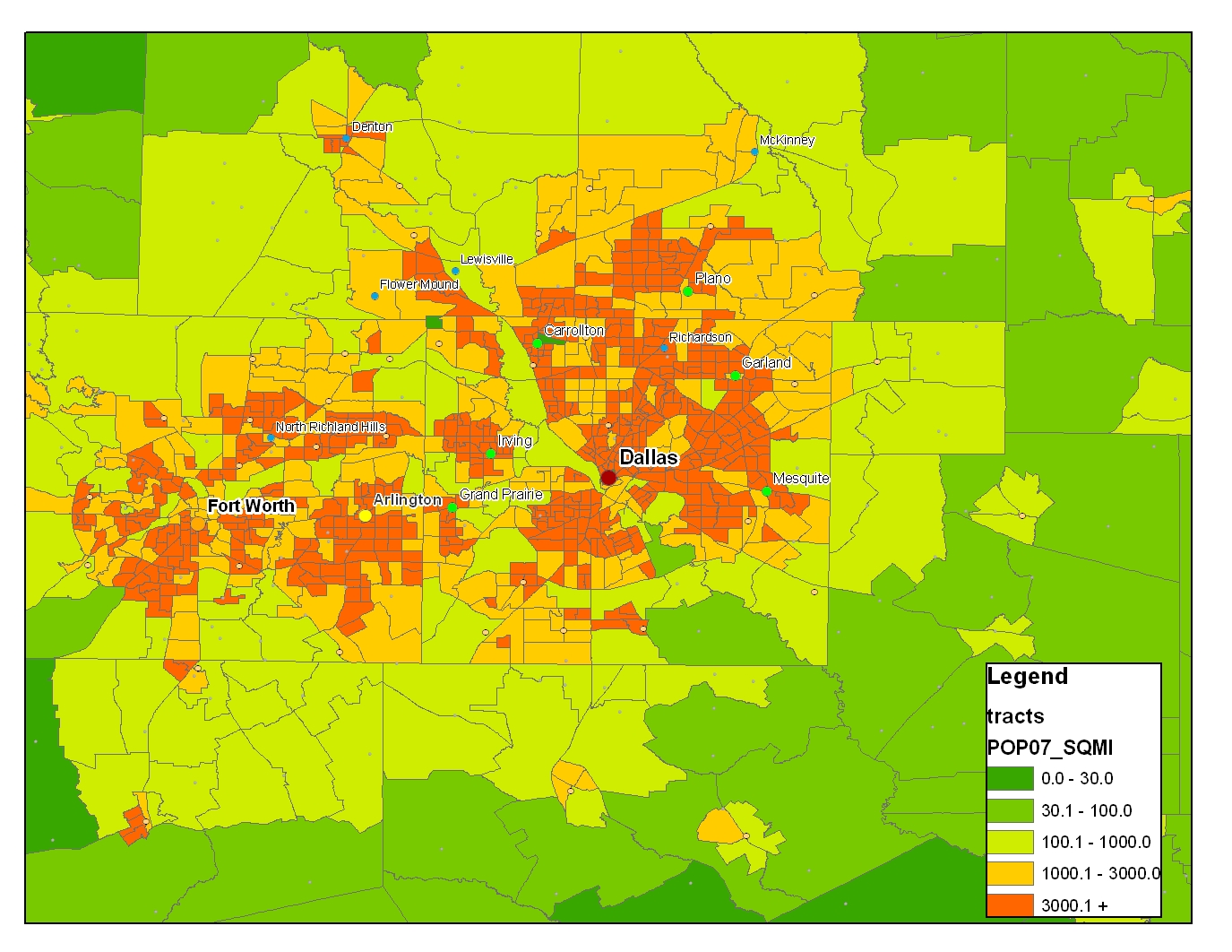 Density DallasHouston Or Atlanta California Florida