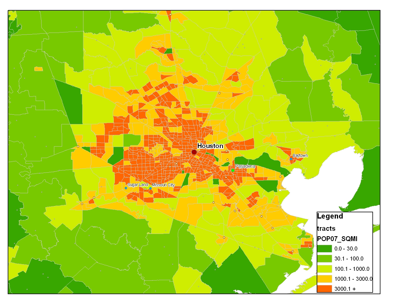 Density Dallas Houston Or Atlanta Map Bigger Better People