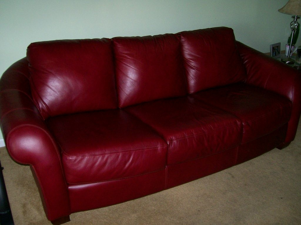 Burgundy Leather Sofa And Loveseat For Sale!