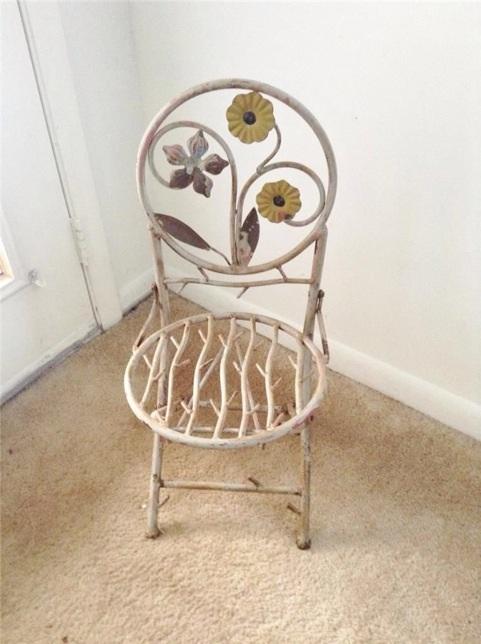 Merveilleux Childu0027s Wrought Iron Folding Chair Image