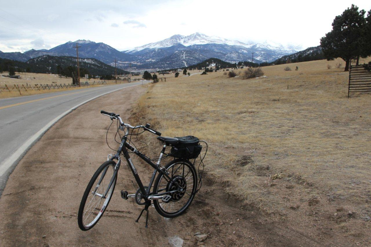 Electric bicycle to rocky mountain national park rmnp for Electric motor repair boulder co