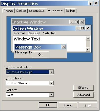 Так вот для смены шрифта окон нужно выбрать пункт Window Color.