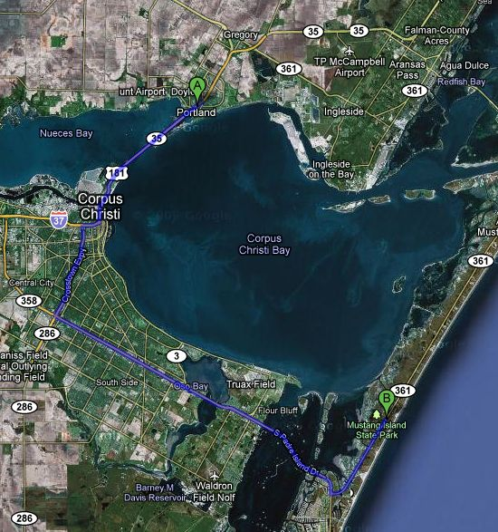 Mustang Island Beach: How Far Is Portland From Cc? (Fulton, Point: Construction