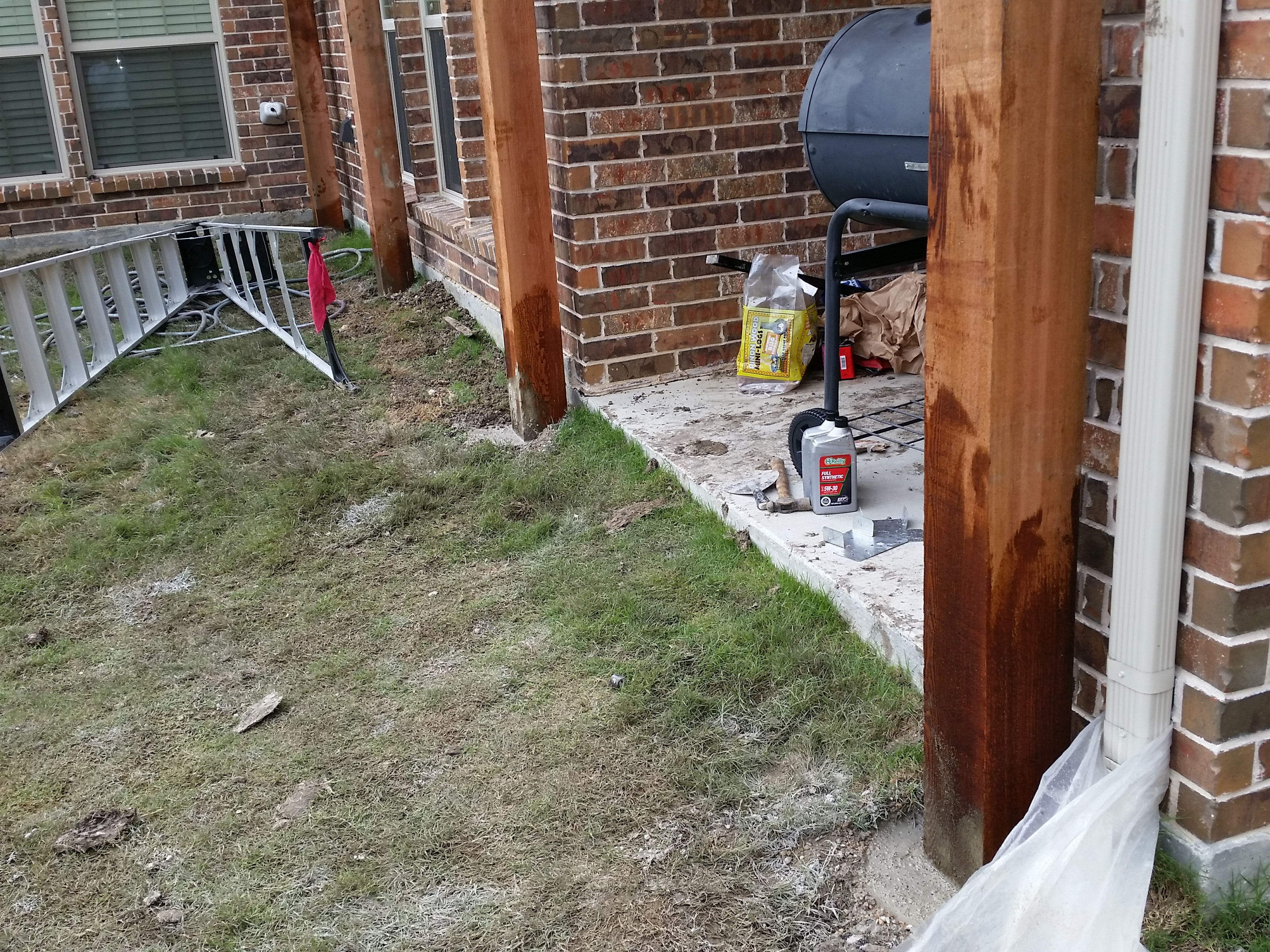 ... Will New Covered Patio Without Concrete Create Foundation  Problem 20150507_172118 ...