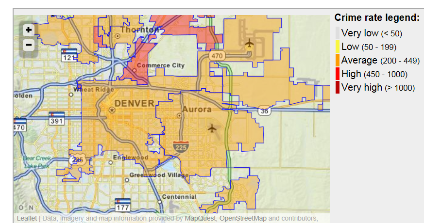 Denver Crime Map on