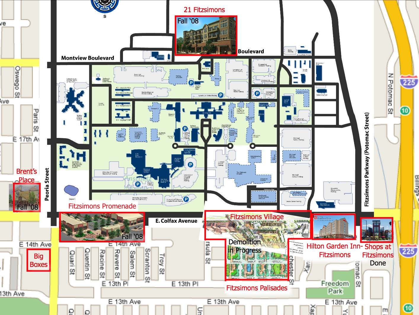 Amc Campus Map.Uc Denver Anschutz Medical Campus Aurora Palisade Real Estate