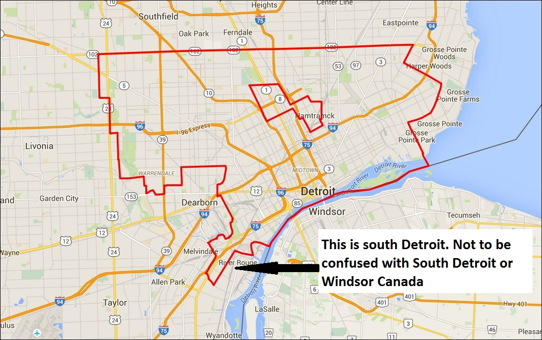 Where Is South Detroit ??? (Southfield Stations Radio Map) - Michigan (MI) - City-Data Forum