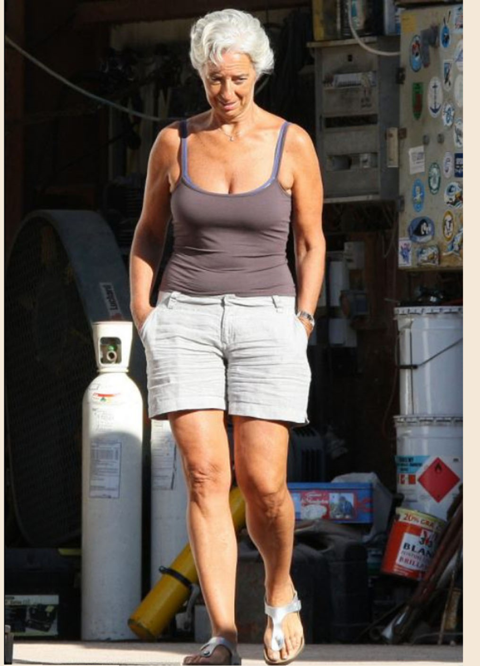 Weight estimate: Christine Lagarde (workouts, buying