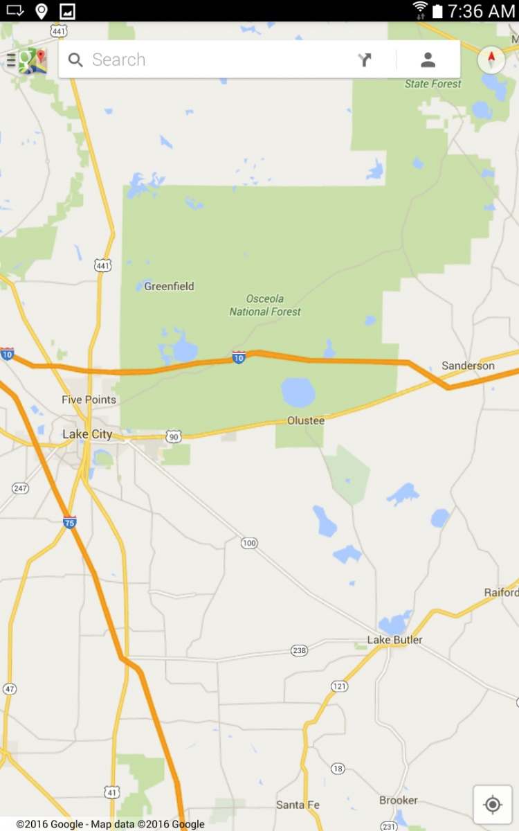 Google Maps And Ocala National Forest Camp Map Roads Florida - Google maps florida