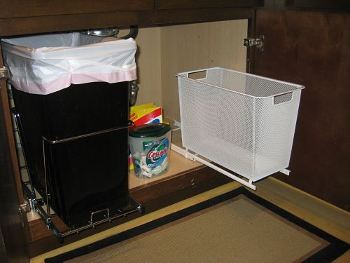 replacements shelf kitchen bins replacement slide ware eclectic large can cans a trash rev out