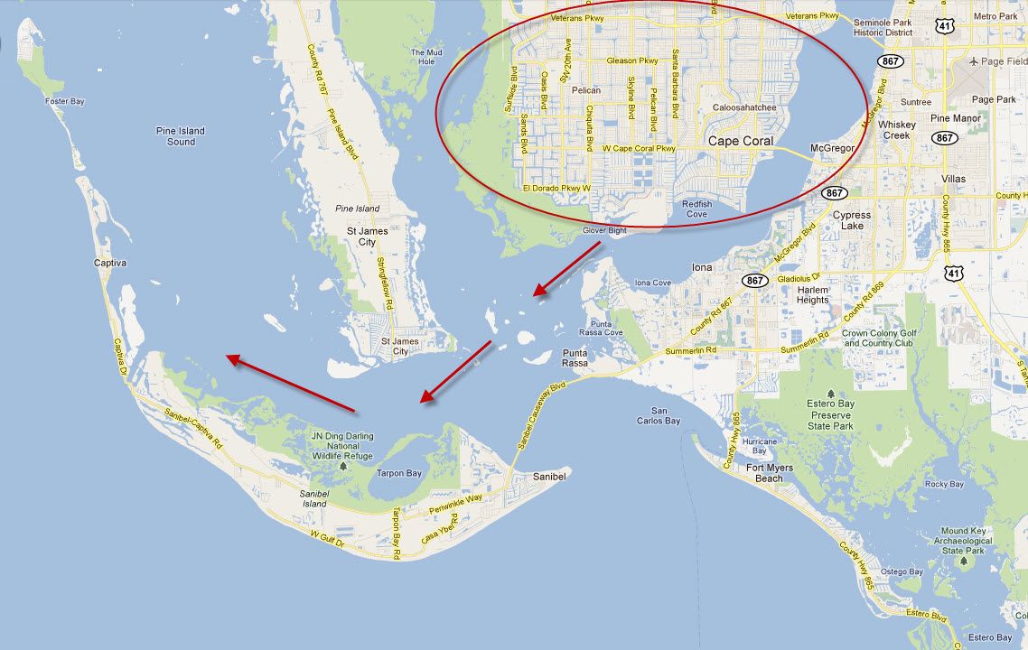 Is Cape Coral The Best Place For Water Access To Gulf Fort Myers - Cape coral map