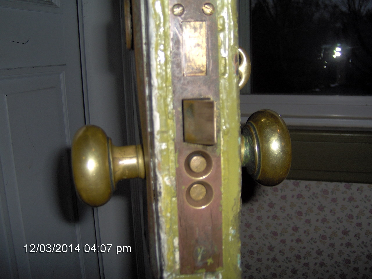 antique door lock entry door