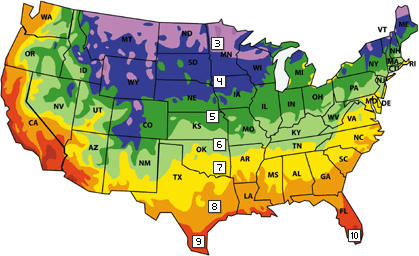 climate zone 4 temperate planting guide