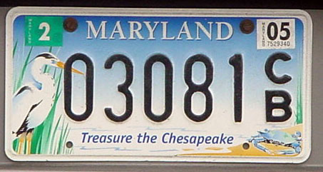 Ocean City Maryland License Plate