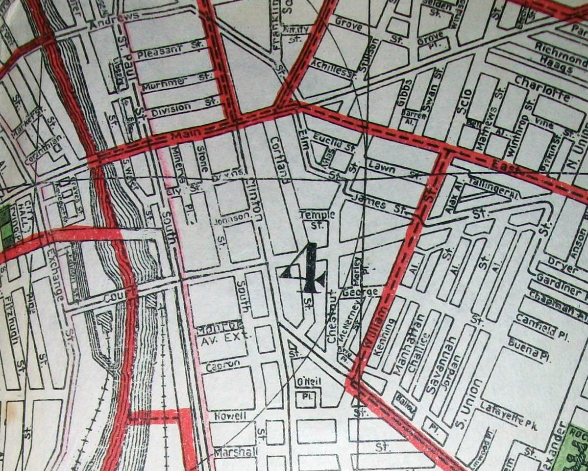 old maps american cities in decades past warning large images rochester
